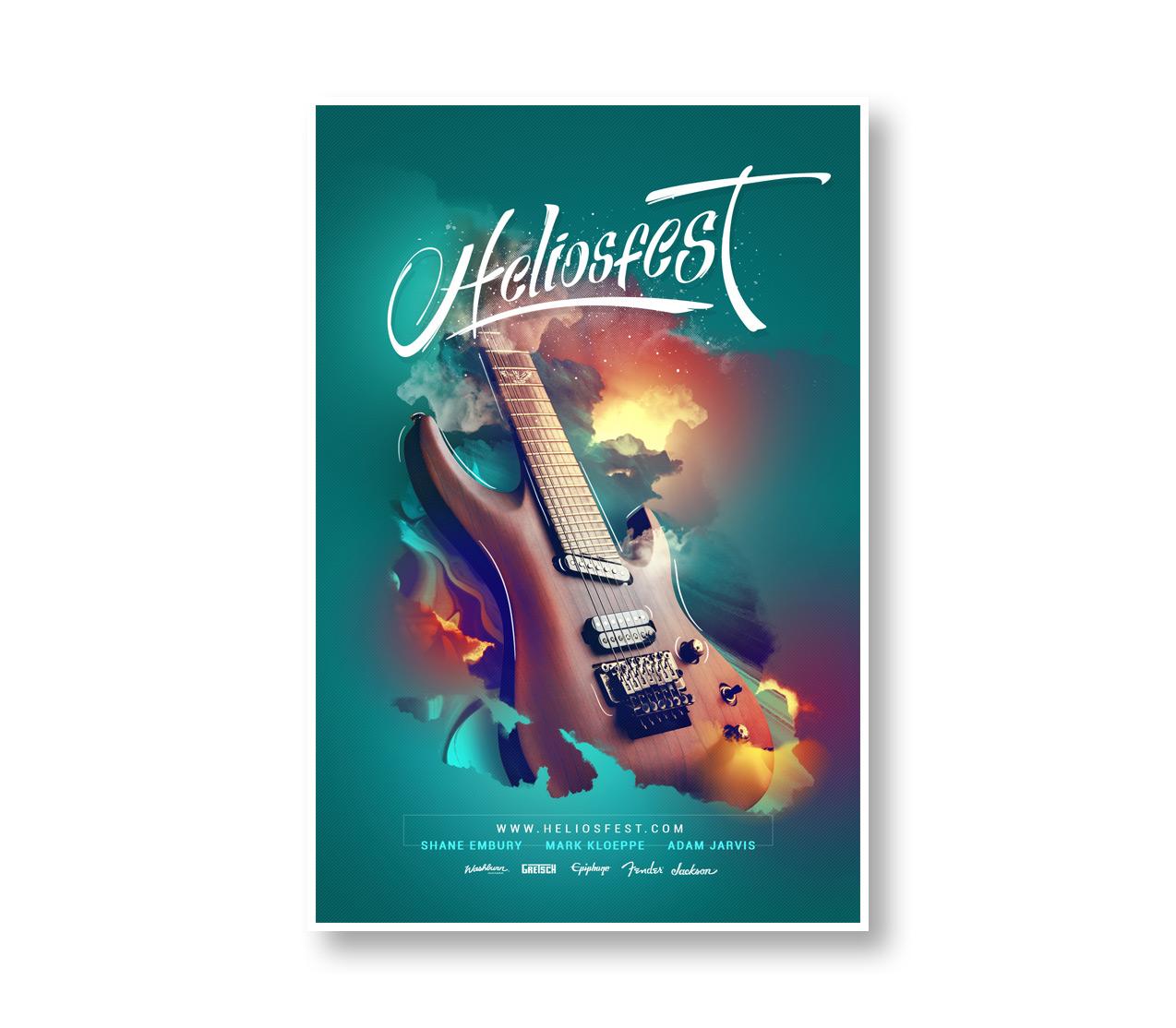 Diseño publicitario Keepinmind fotografía Poster Heliosfest