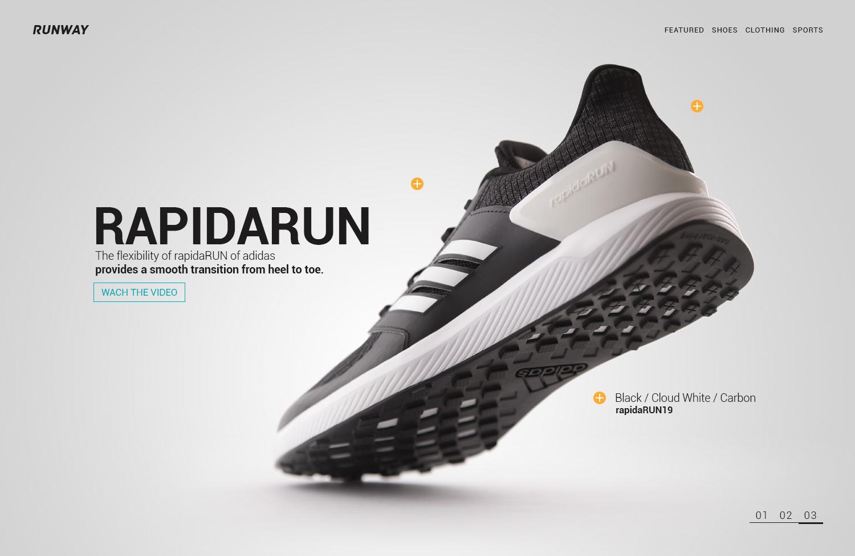 Fotografía de Producto Cali Diseño Web Concepto Adidas Keepinmind